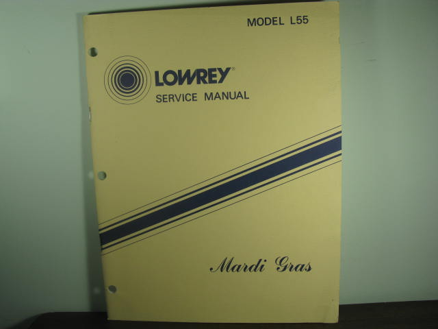 L-55 Mardi Gras Service Manual