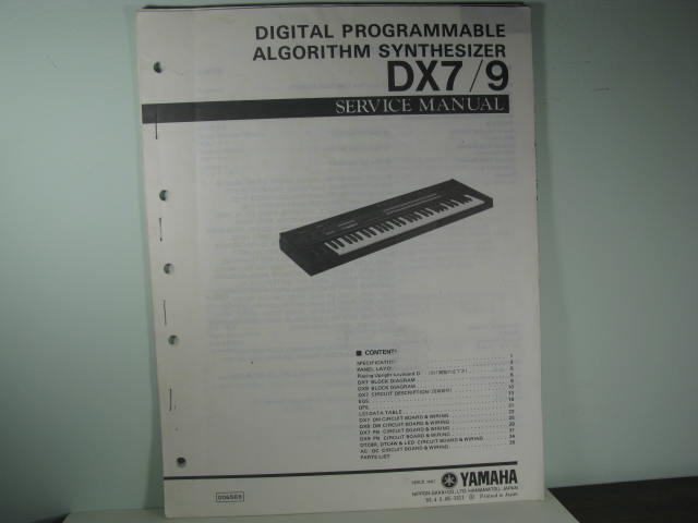 DX7/9 - Digital Programmable Algorithm Synthesizer