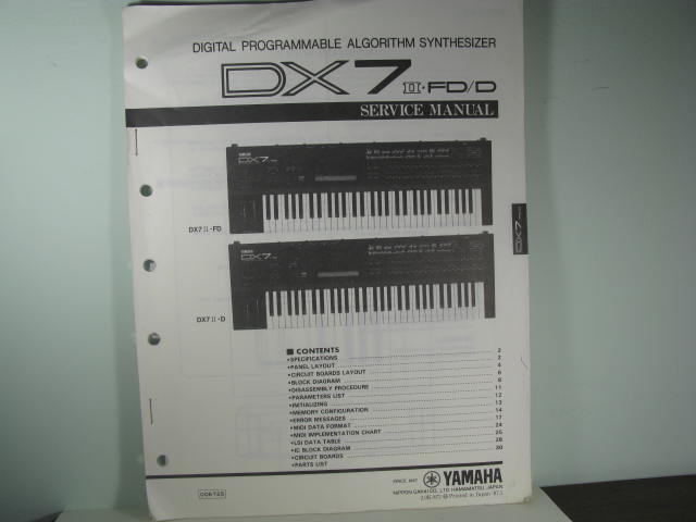 DX7-II-FD/D-Digital Programmable Algorithm Synthesizer-SM