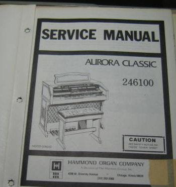 Hammond aurora Service manual pdf on